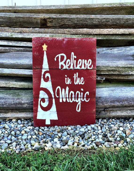 christmas sign christmas decor christmas pallet sign holiday decor holiday sign believe in the magic sign pallet sign pallet decor