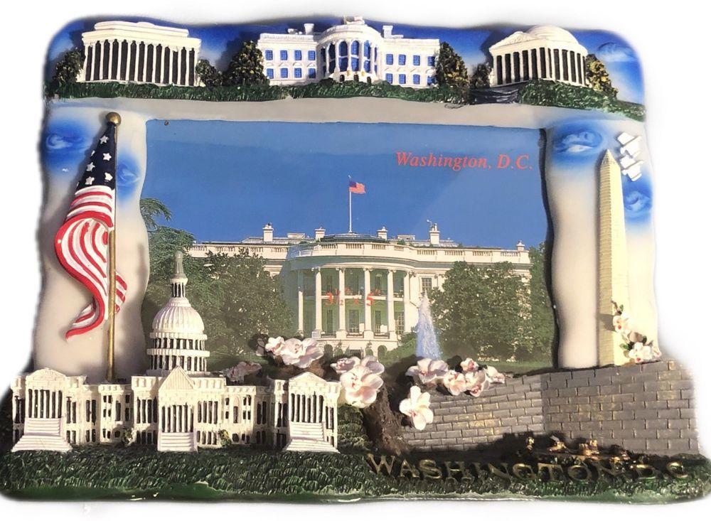 Washington Dc Souvenir 3d Picture Frame 3 5 X5 5 Photo White House Capitol 3d Picture Frame Picture Frames Pictures