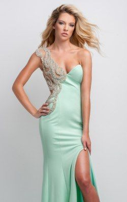 237b2bf25390 Sheer Beaded Asymmetrical Gown by Terani Couture Prom | Venice,Italy ...
