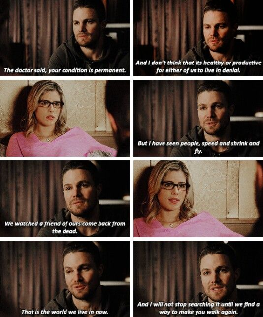 ...and I will not stop searching it until we find a way to make you walk again. #Olicity #Arrow #4x11