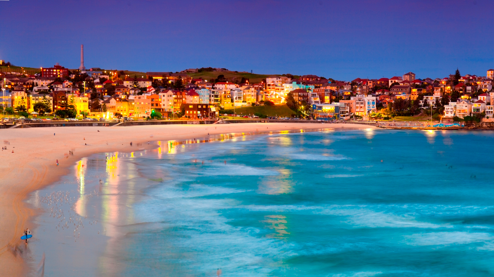 This is Bondi beach from Australia. Bondi beach is a tourist ...