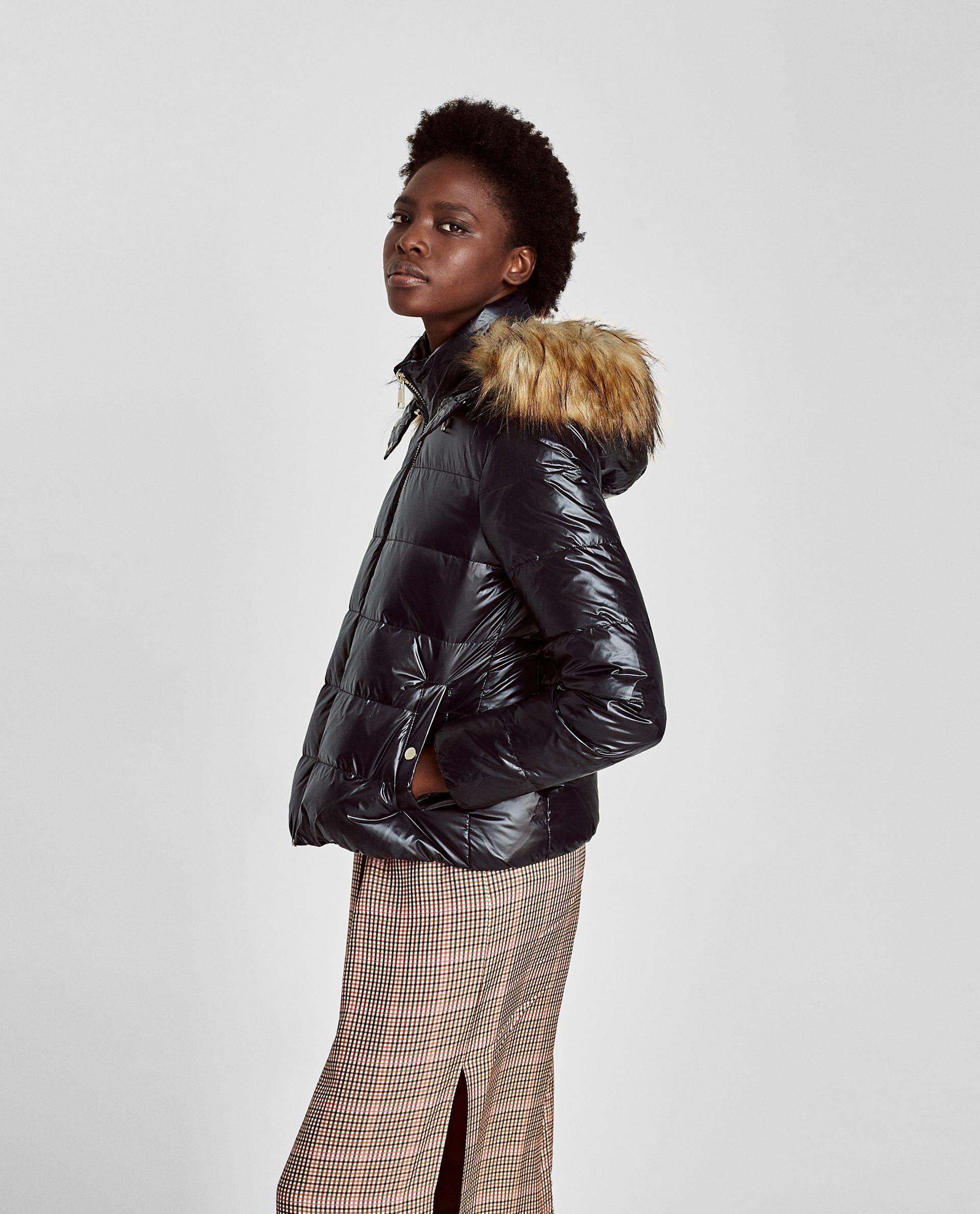 577e4663 SHINY DOWN PUFFER JACKET | Zara 2017 | Puffer jackets, Jackets, Coat