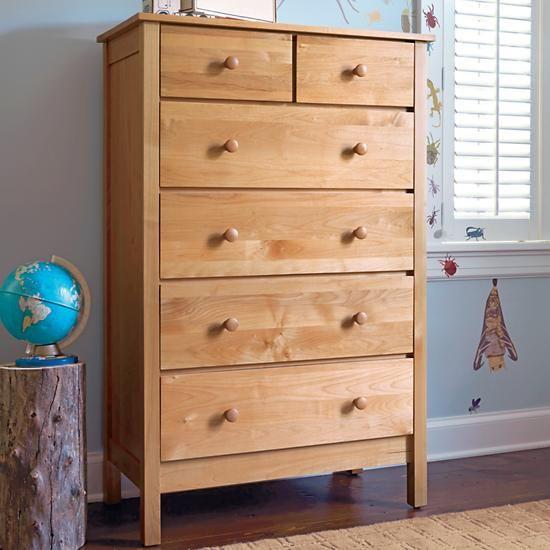 Simple 2 Over 4 Dresser Natural The Land Of Nod Playroom Furniturekids