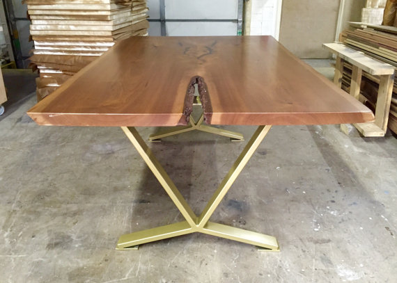 V Shaped Dining Table Legs Industrial Legs Set Of 2 Steel Etsy Dining Table Legs Table Legs Industrial Legs
