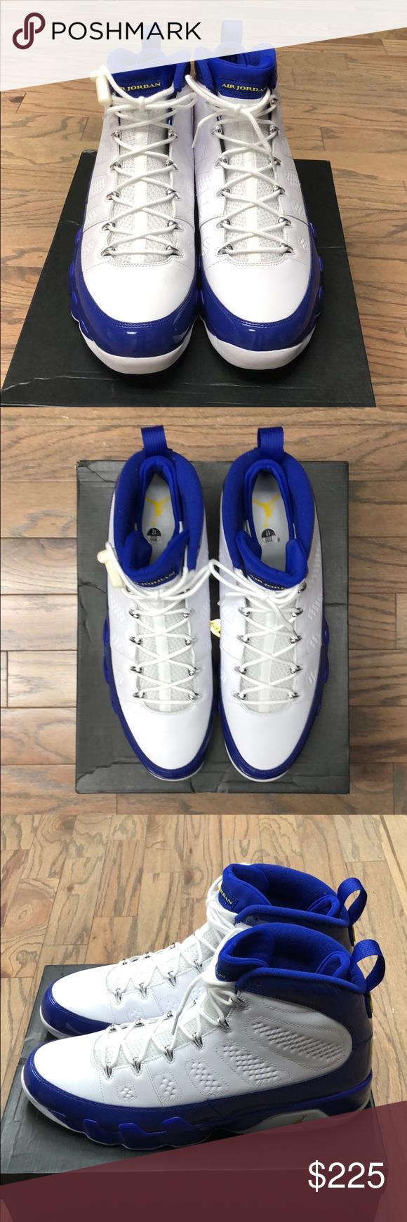 "31109d14f45 Air Jordan 9 Retro ""Kobe PE"" Deadstock, Brand New Air Jordan 9 Retro ""Kobe  PE"" Size 17, Color-White/Concord/Tour Yellow, 302370-121, 100% Authentic  Nike ..."