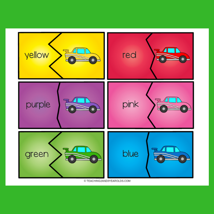 Free Race Car Color Matching Puzzles