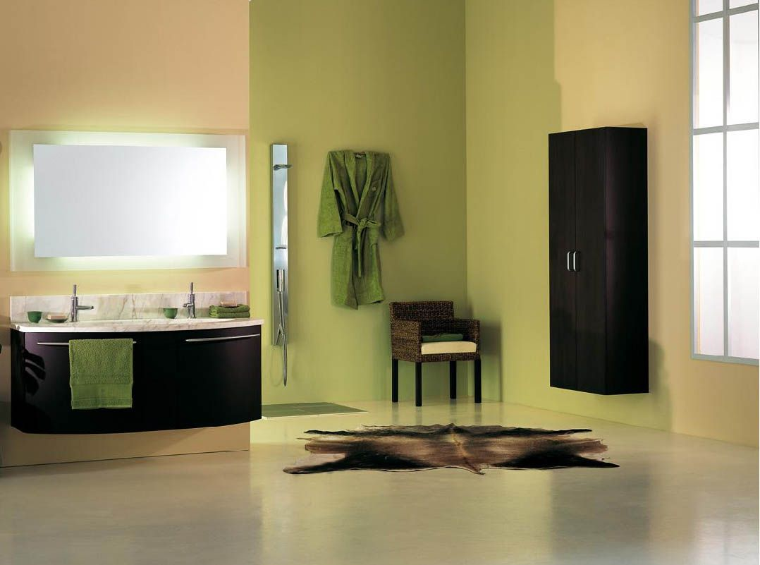 Renew Your Small Bathroom With Modern Decor In Green! | Bathroom ...