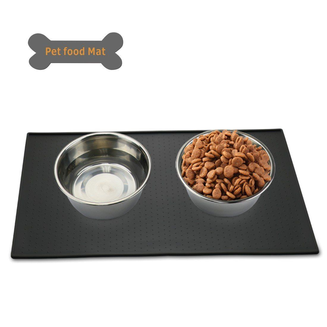 pet pvc kloud litter mat semicircle bowl cat feeding mats city food pin