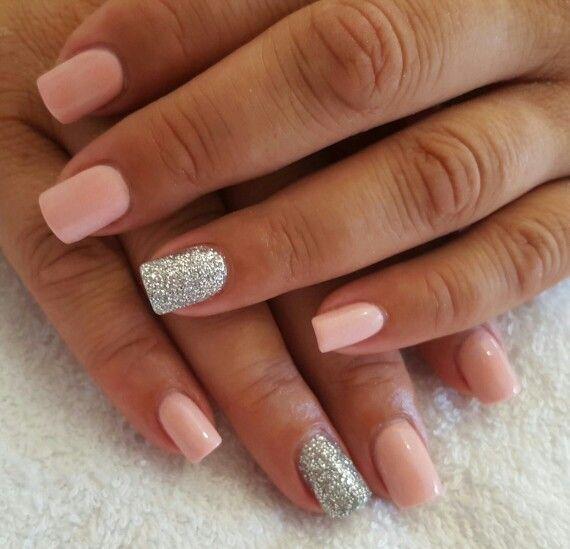 Beautiful Short Acrylic Overlay Gel Nails Nail Designs
