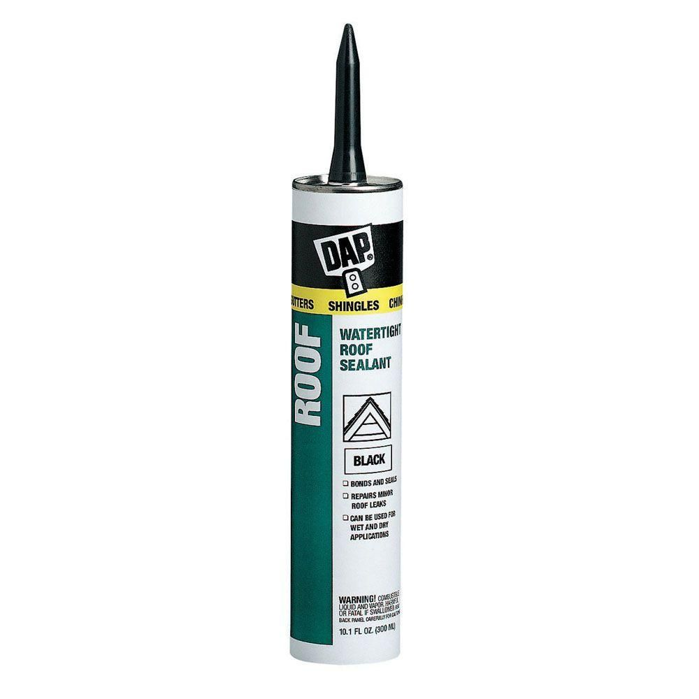 Dap 10 1 Oz Black Roof Waterproof Asphalt Filler And Sealant 12 Pack Roof Sealant Home Depot