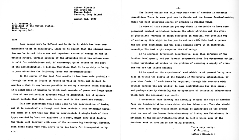 Copy Of Letter Dated August   From Albert Einstein Faculty