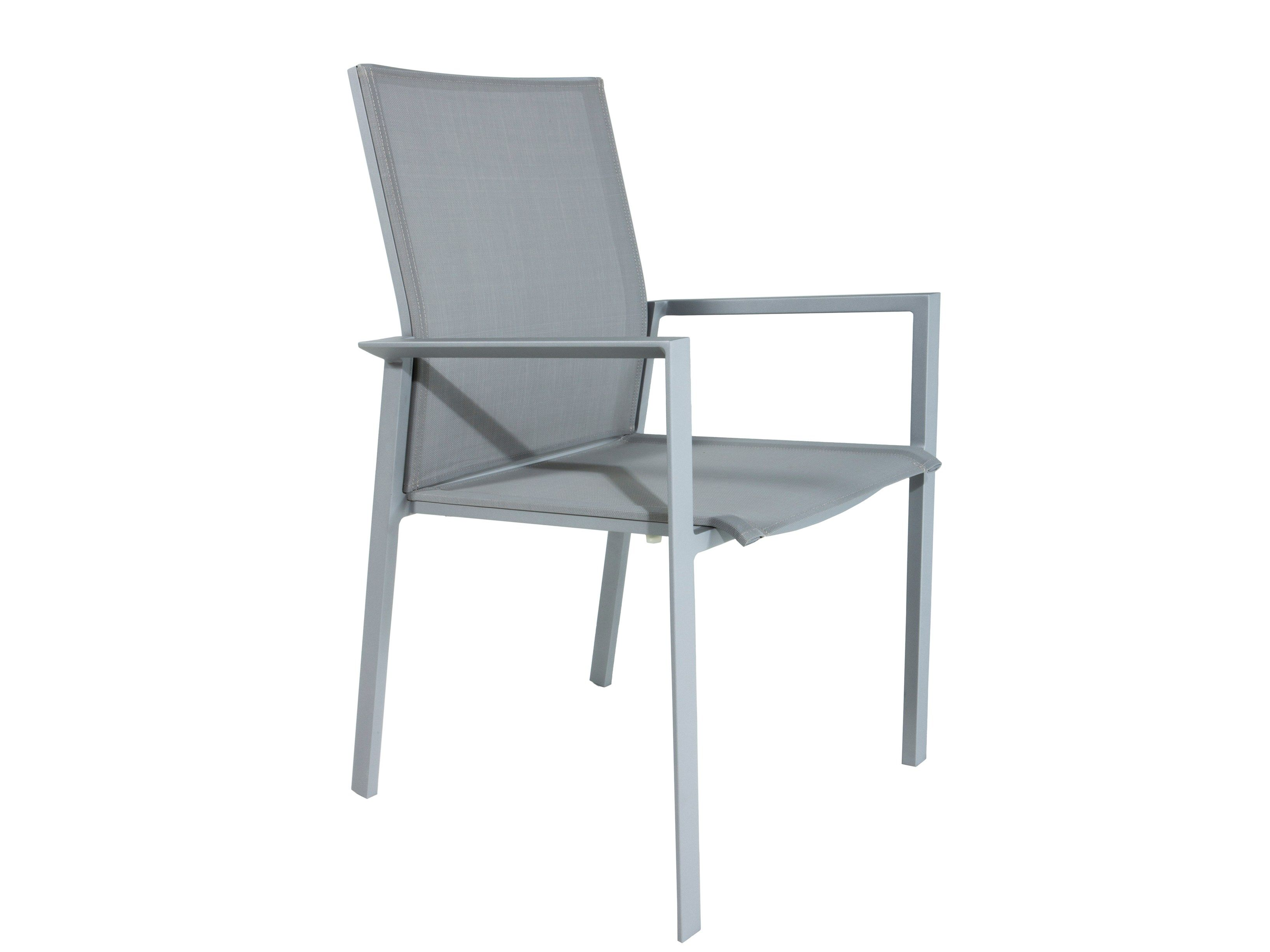 Stackable textilene garden chair with armrests santini 97200 by gescova