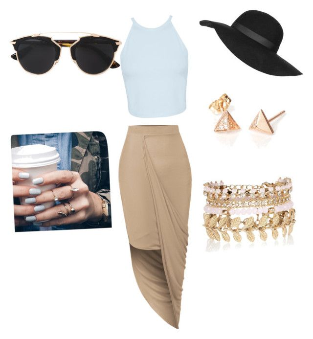 """""""Untitled #102"""" by queen-earl ❤ liked on Polyvore featuring beauty, LE3NO, Miss Selfridge, Topshop, Christian Dior, River Island and Floss Gloss"""