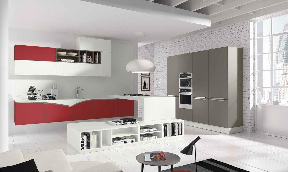 Cucina rossa e grigia: 15 idee accattivanti che vi ispireranno ...