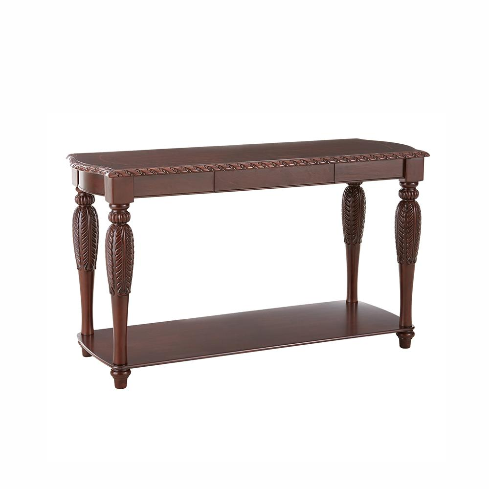 Antoinette Traditional Brown Cherry Sofa Table Ay150s Sofa Table Table Cheap Leather Sofas