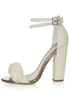 a64eccd558d7 RABBIT Faux Fur Fluffy Sandals. RABBIT Faux Fur Fluffy Sandals Strappy High  Heels