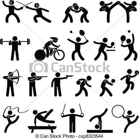 Vector Indoor Sport Game Athletic Icon Stock Illustration Royalty Free Illustrations Stock Clip Art Icon Pictogram Indoor Sports Games Pictogram Design