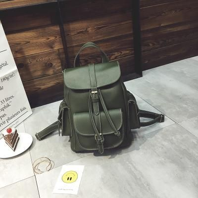 b68df407d950 2018 Europe Style Women Fashion Backpacks Retro Leather