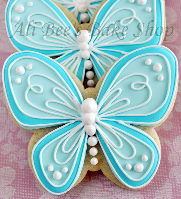 Very nice butterfly cookies by Ali Bee's Bake Shop.