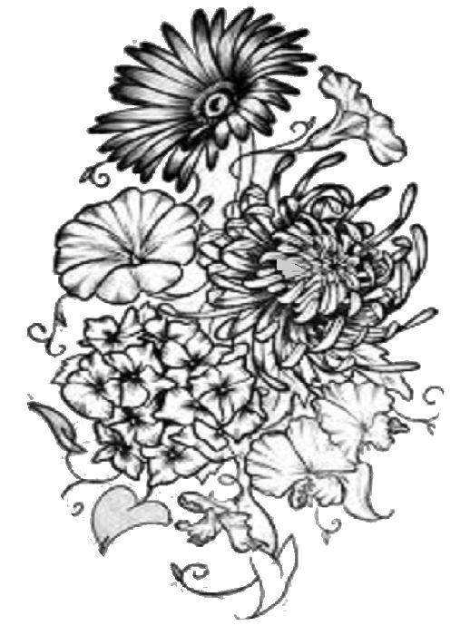 Daisy Hawthorne Morning Glory Chrysanthemum April May September November Birth Flower Tattoos Tattoos Birth Month Flowers