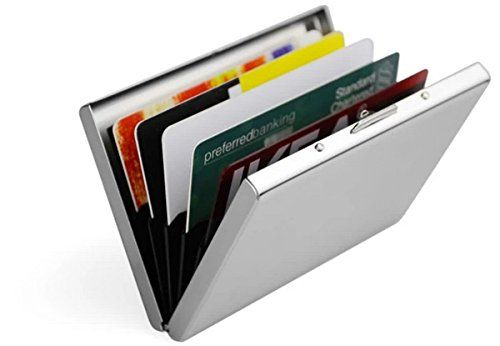 a816aae4766f Rfid Stainless Steel Wallet Credit Card Holder- Prevent Electronic ...