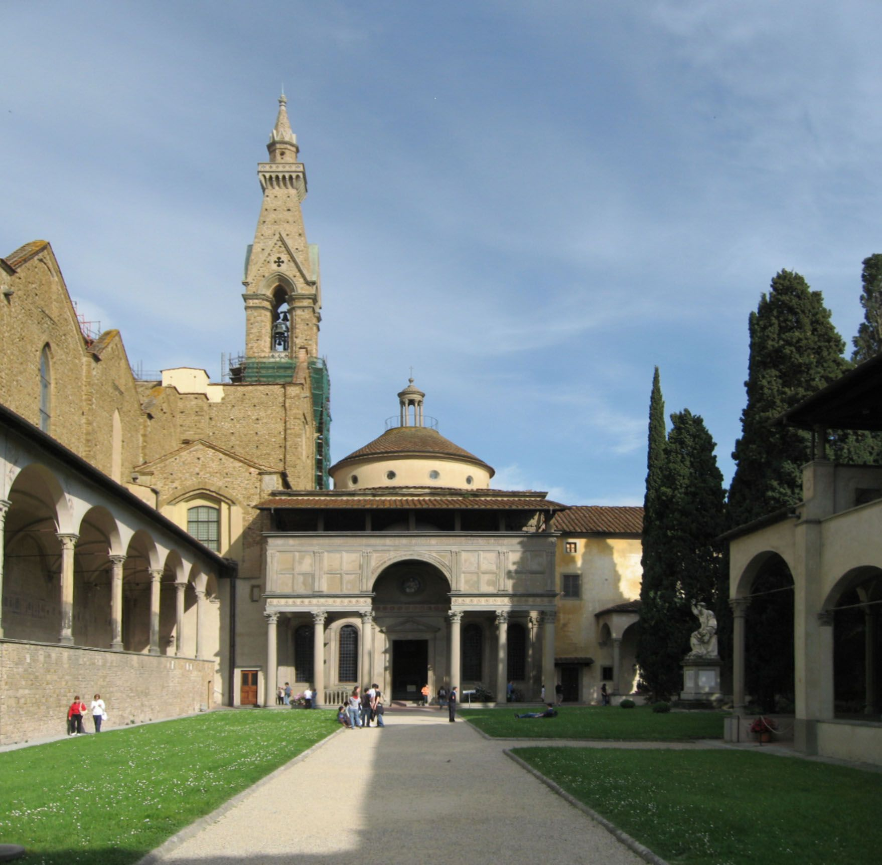 Pazzi chapel basilica di santa croce florence italy for Architecture renaissance