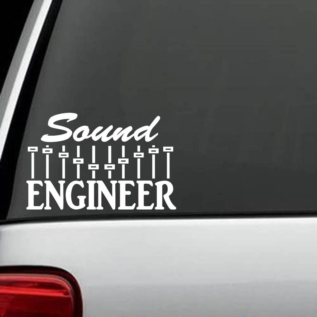 Sound Engineer Decal Sticker Music Mixer DJ Amplifier Drums Guitar - Family decal stickers for carshot sale doberman stick family decal sticker run stick