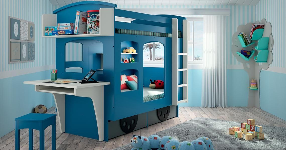 Wagon Kids' Twin Loft Bunk Bed- LoftBeds4Kids.com