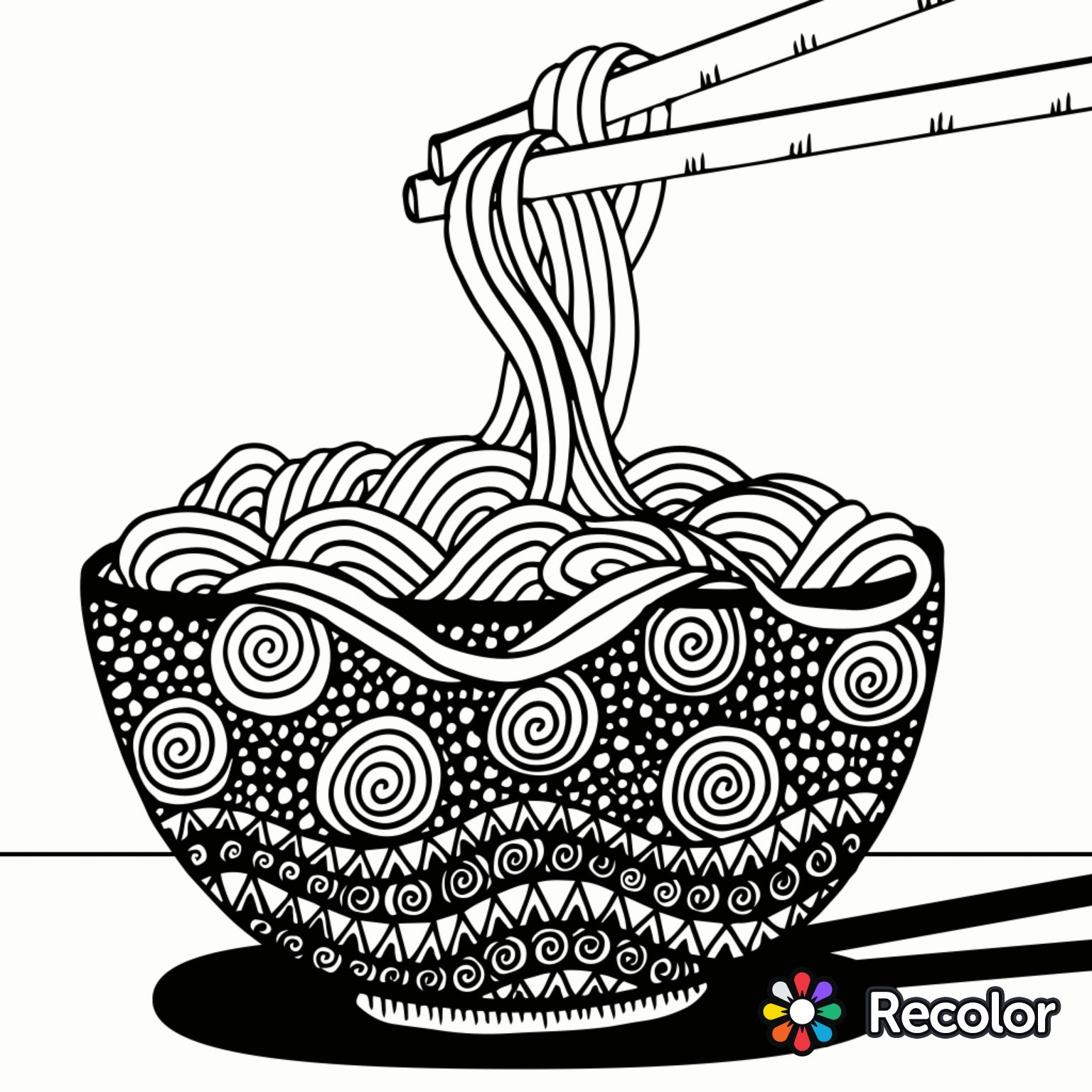 Coloring games like recolor - Noodles To Color Recolor App