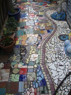 mosaic garden path - cerca con google | viottoli | pinterest