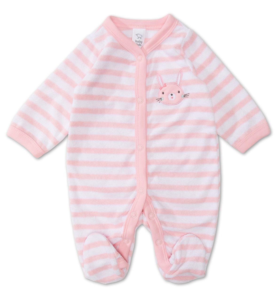 Baby-Schlafanzug in weiss / rosa