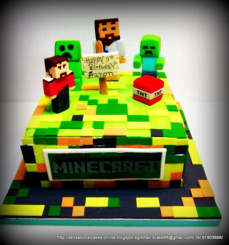 Cakes Online Singapore Minecraft Cake Singapore 3d Party Ideas