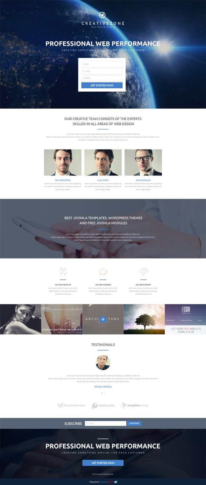 Design Studio Free Landing Page Template To Gain More Site Viewers