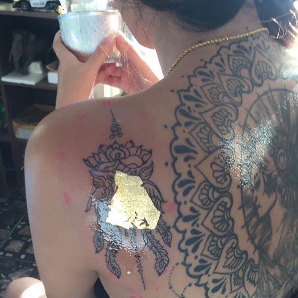 Tattoo on the beach