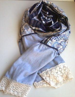 Rosa Chá Atelier : Echarpe/ gola em tecido