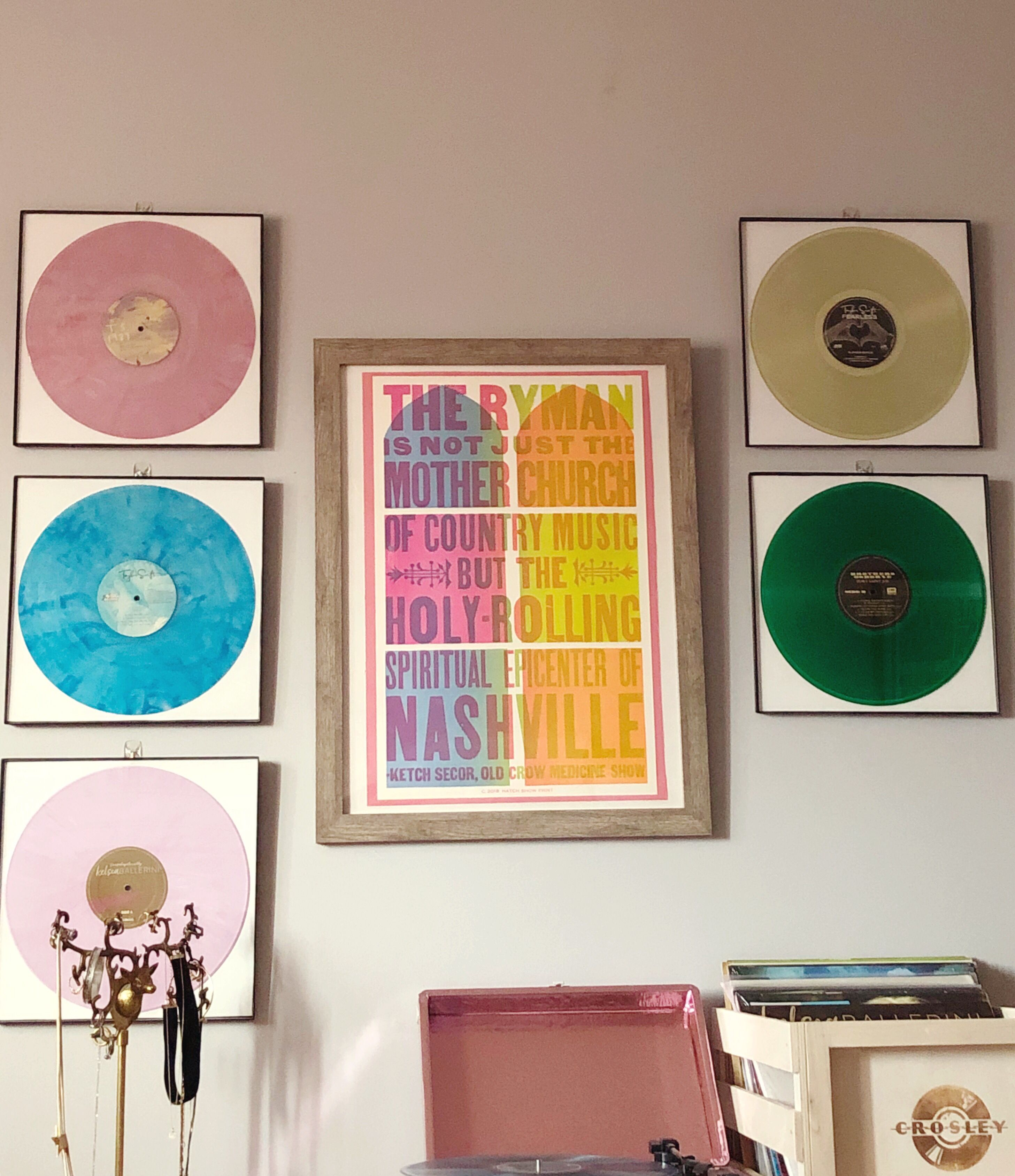 Girl Puts Your Records On Display Country Decor Display Gallery Wall
