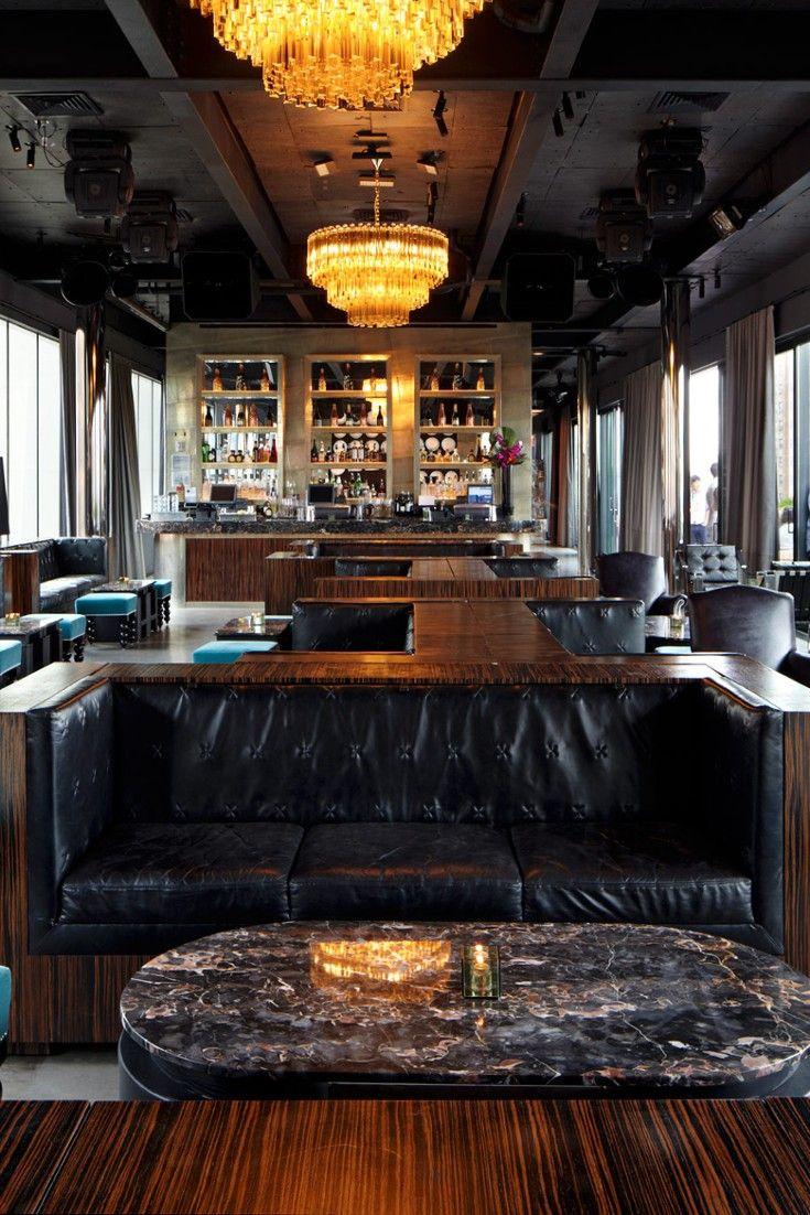Dream Downtown New York City Ny Modern Hotel Lobby Lounge Seating Modern Kitchen Bar