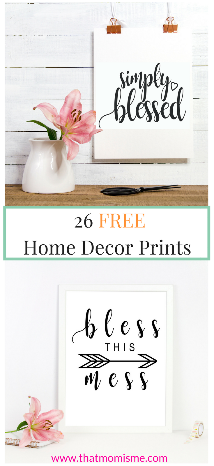 Home Decor Prints Free Printable Wall Art Shabby Chic