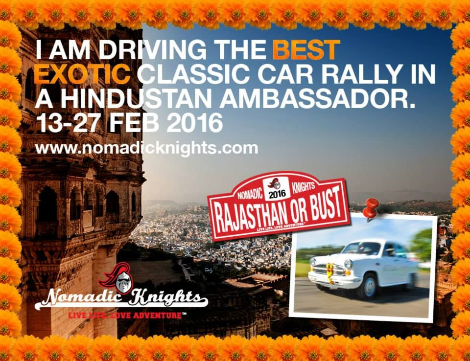 This will be a remarkable adventure... Over the next 13 days we will be driving over 2,300kms, visiting the colourful cities of Jaisalmer, Jodhpur, and Jaipur, staying in desert camps, ancient forts and grand palaces during this once in a lifetime experience. Our car of choice will be the quintessentially Indian Hindustan Ambassador, formerly known as the Morris Oxford. Trip dates: 13th-26th February 2016