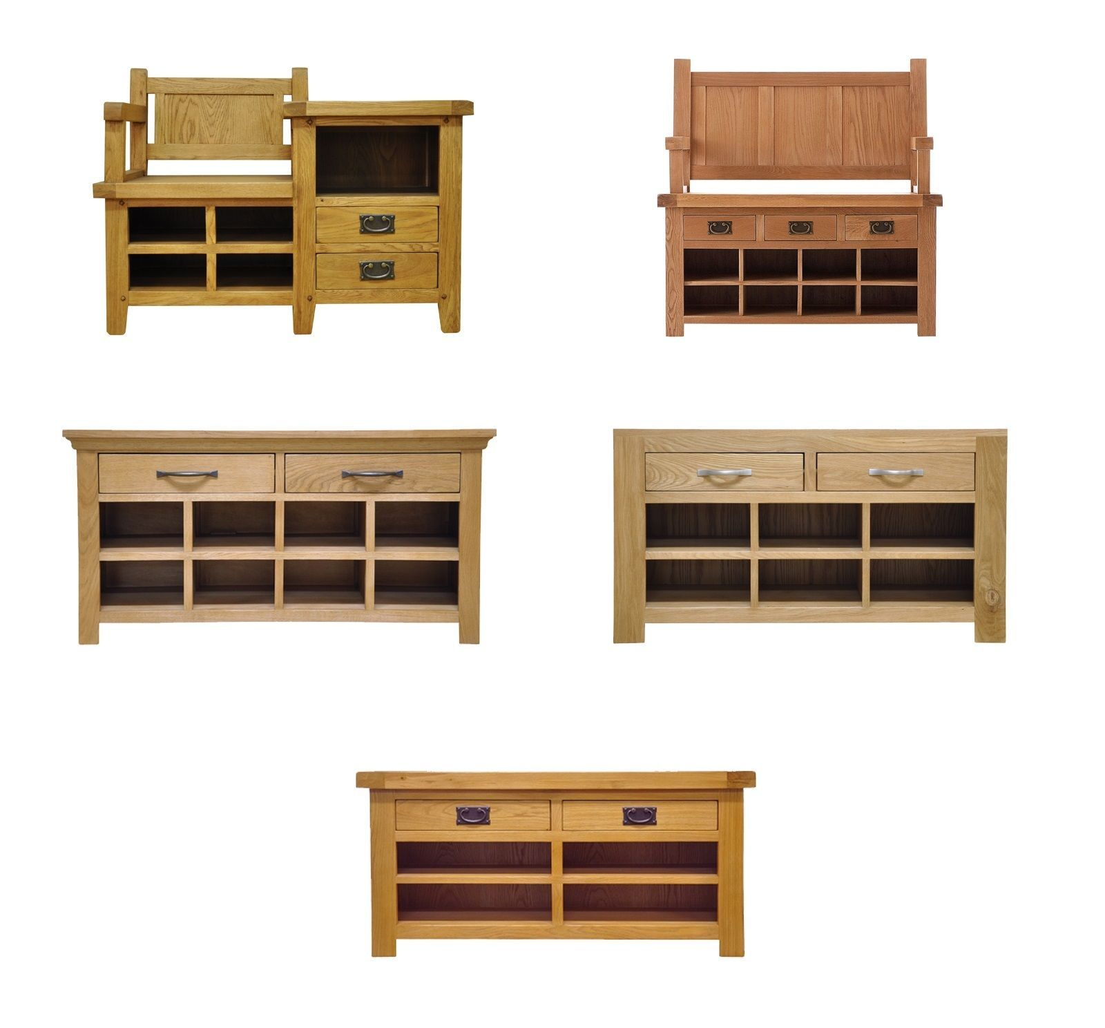 Solid Oak Storage Monks Bench Seat Hallway Shoe Storage Living Dining Furnitur View More On