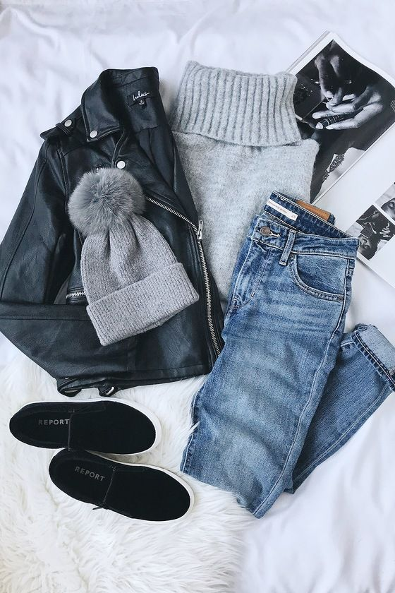 Ad: Favorite Dream Heather Grey Turtleneck Sweater | Lulus | You'll be warm and ... 1