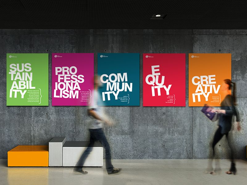 Core Value Posters Office Wall Design Office Wall Graphics Office Graphics