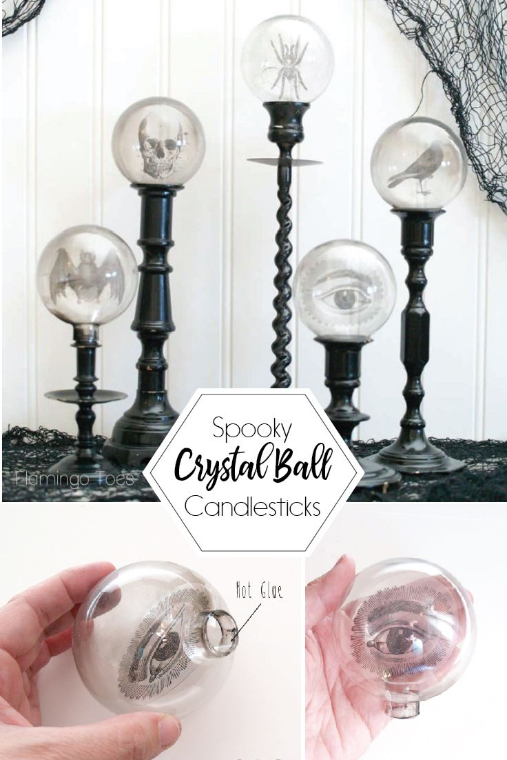 Photo of DIY Spooky Crystal Ball Halloween Candlesticks | Crafts | Flamingo Toes