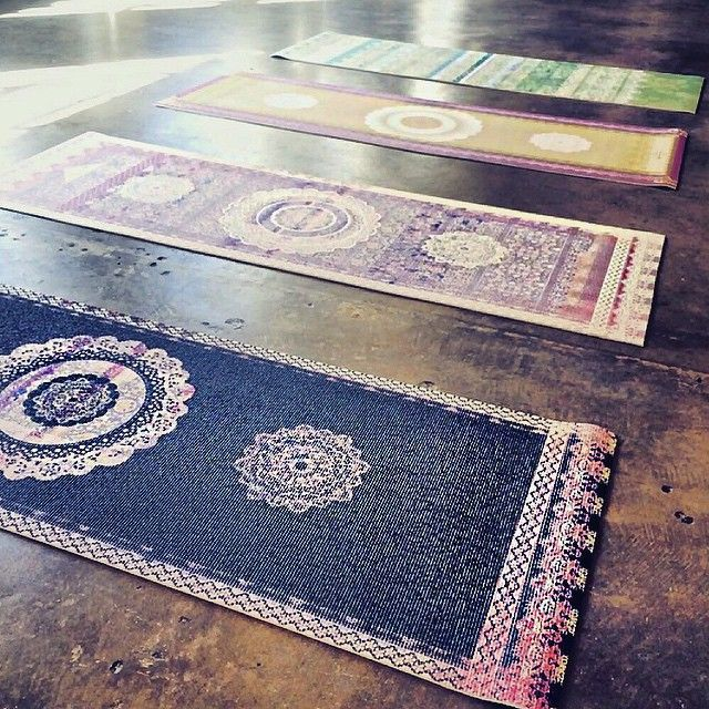 want one of these indian prayer rug style yoga mats. Xo, LisaPriceInc.