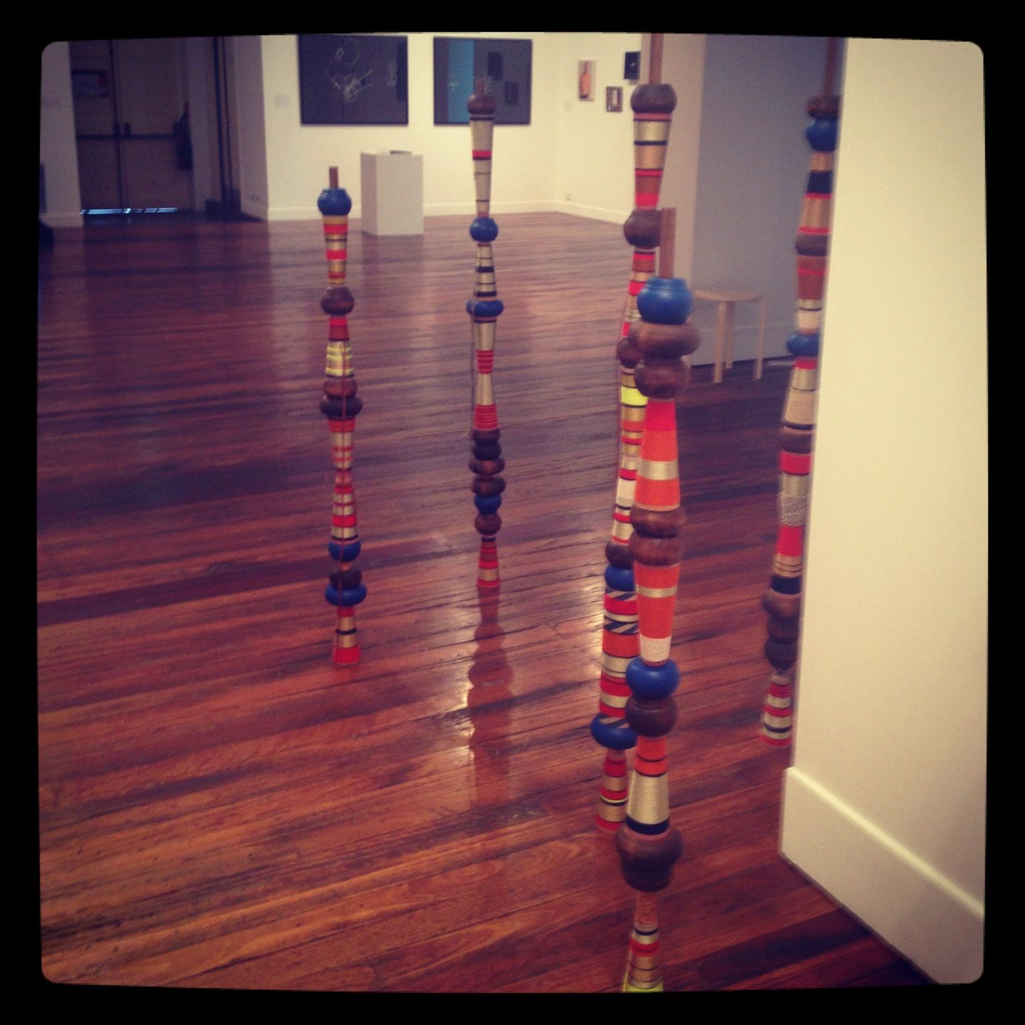Kate Scardifield totems in the 2012 Redlands Westpac Art Prize.