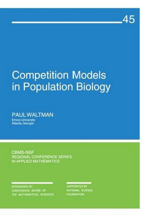 Competition Models in Population Biology - PDF Books