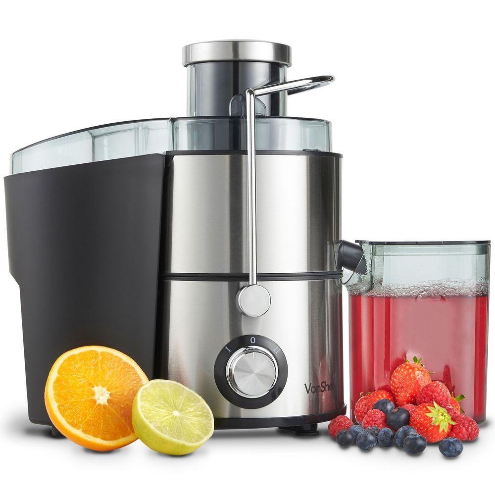 Vonshef Electric Juicer Machine Whole Fruit Vegetable Extractor Juice Maker Fruit And Vegetable Juicer Juice Extractor