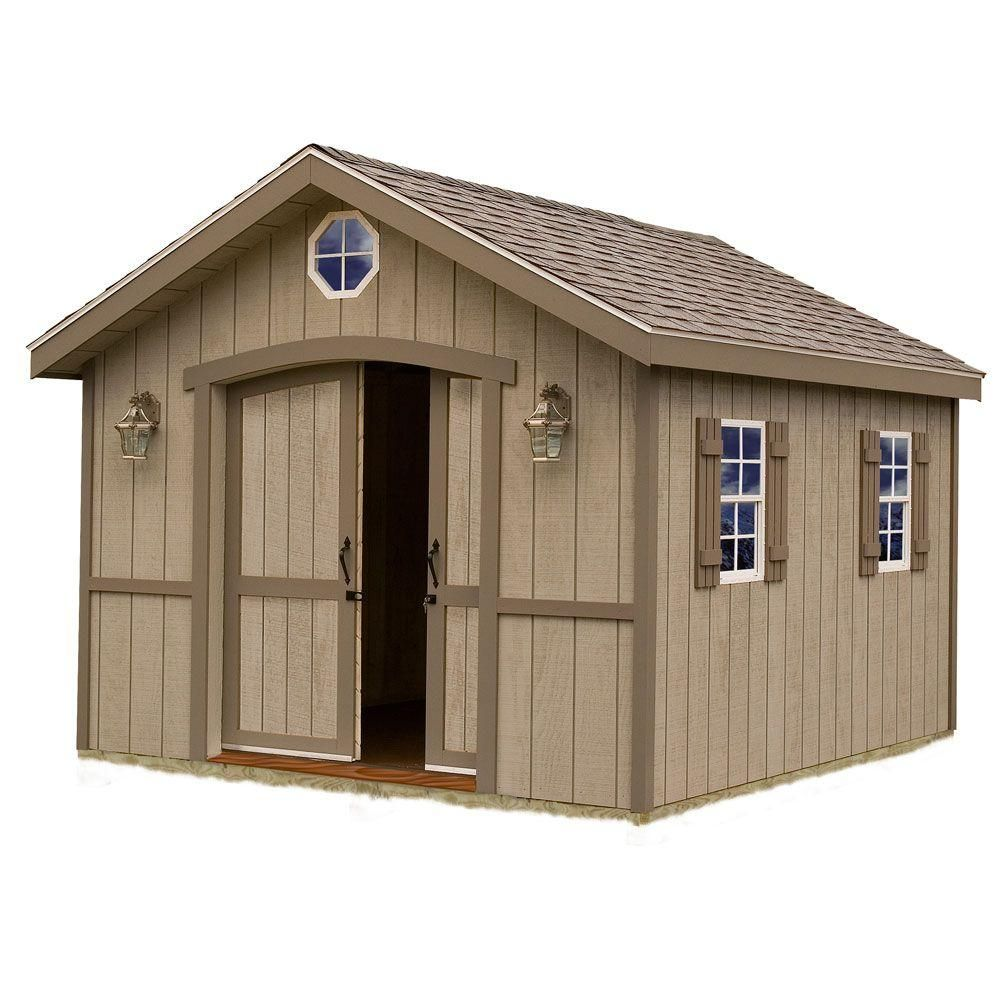 Best Barns Cambridge 10 Ft X 16 Ft Wood Storage Shed Kit Cambridge 1016 The Home Depot Wood Storage Sheds Storage Shed Kits Building A Shed
