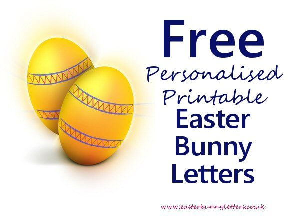 Easter bunny letters get a free personalised instantly printable create your own free printable easter bunny letter personalised with your childs details easter day falls on april in spiritdancerdesigns Image collections