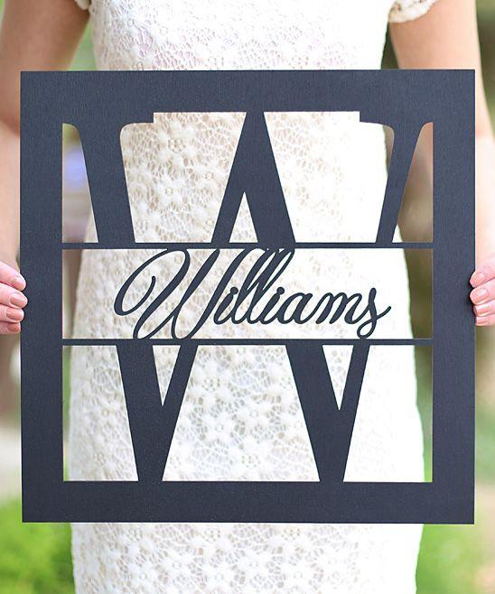 Personalized Wedding Last Name Sign | cnc plasma cutter | Pinterest ...